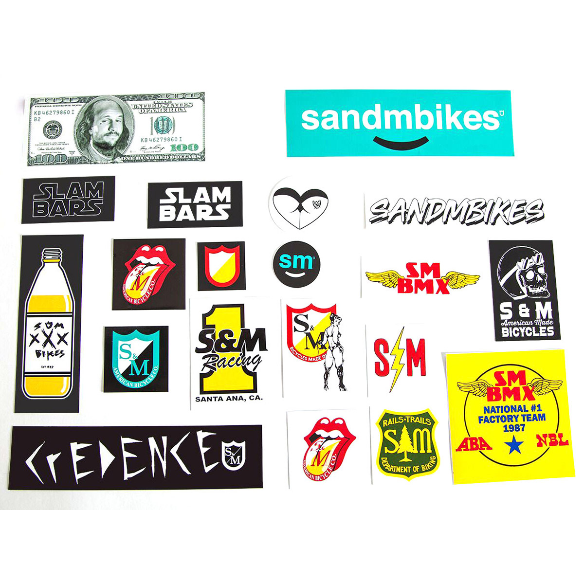 Set Of 7 Bicycle Cycling Sticker Decal S/&M Bikes