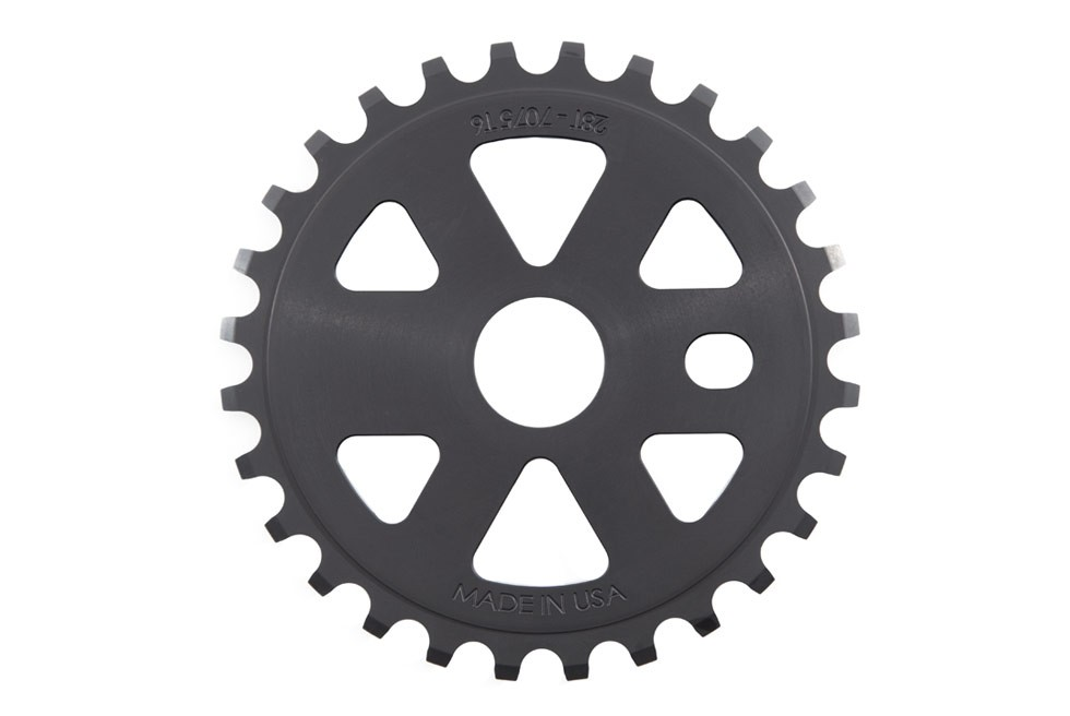 S+M BIKES X-MAN GUARD 28T BLOOD RED BICYCLE SPROCKET