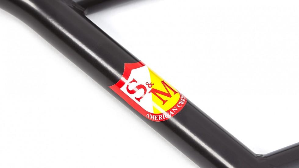 "S/&M BIKES CRUISER BMX BARS 7 INCH GLOSS CLEAR 7/"" 4 PIECE BAR HANDLEBARS HANDLE"